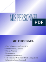 Chapter 8-Mis Personnel