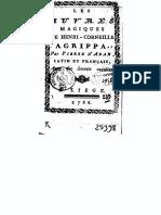 DAban Pierre - Les Oeuvres Magiques de Agrippa