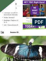 BIO153!16!14 Animal Diversity