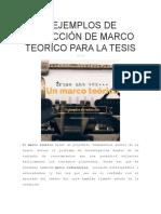 3 Ejemplos de Redacción de Marco Teórico Para La Tesis