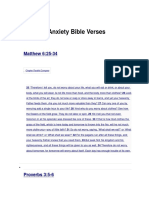 Worry and Anxiety Bible Verses