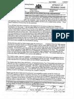 Affidavit of probable cause