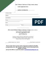 Vendor Form for Holistic Wellness Conference