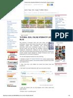 Tutorial Soal Online Interaktif Untuk Blog