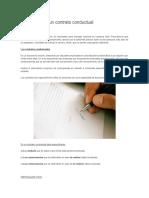 Como Realizar Un Contrato Conductual