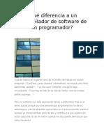 Qué Diferencia a Un Desarrollador de Software de Un Programador