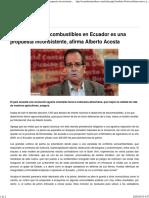 Alberto Acosta Bio Combustibles