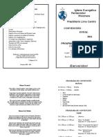 Programa de Asamblea Lima Centro
