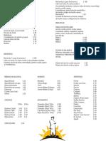 Menu Cafeteria FDM PDF