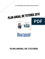 Plan Anual de Tutoría 2016 inicial Tambo