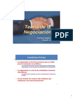 Teoría y Estrategia de Negociación, Parte 1