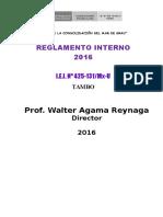 Reglamento Interno Inicial 2016