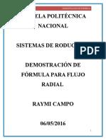Deduccion de La Formula Para Flujo Radial