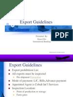 Export Guidelines in Nigeria