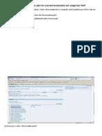 Oracle EBS - Tutorial Aplicar Personalizacao WEB