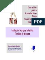 Intubación selectivaLM