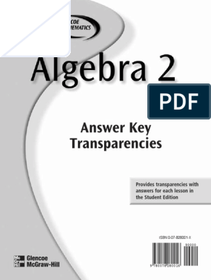 Algebra_2_Answer_Key pdf   Slope   Equations