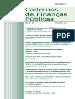 Caderno de Finanças Púclicas