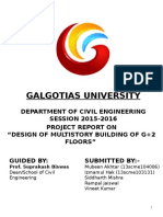 Civil Engineering Design Of G plus two floors