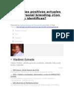 Tendencias Positivas Actuales en El Personal Branding