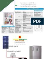 Diagrama Instalacion Nevera y Especificaciones