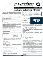 Conservation Laws in Particle Physics