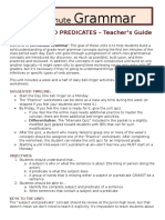 Subjects and Predicates (Lesson Guide)