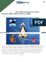 Todo Sobre Entornos de Escritorio en Linux