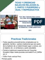 Prác Tradicionales en Embaraz Parto Puerperio 2016