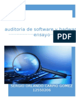 Auditoria Software y Hardware
