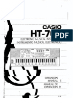Casio HT-700 Owners Manual