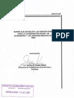 Norma de Coordinacion 2012