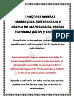 MERENGUES, CREMAS PASTELERAS,BETUN,BUTTERCREAM O CREMA DE MANTEQUILLA, FROSTING O GLASEADO.pdf
