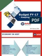 Budget Presentation FY17