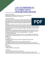 Kerangka Acuan Pertemuan Refreshing Kader Taman Posyandu Di Kabupaten
