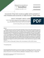 Evaluación de La Calidad Del Grifo de Los Recursos Hídricos y Su Potencial de Formación y Corrosividad Escala en La Provincia de Tafila, South Jordan 1-s2.0-S0011916406014305-Main Ok Ok