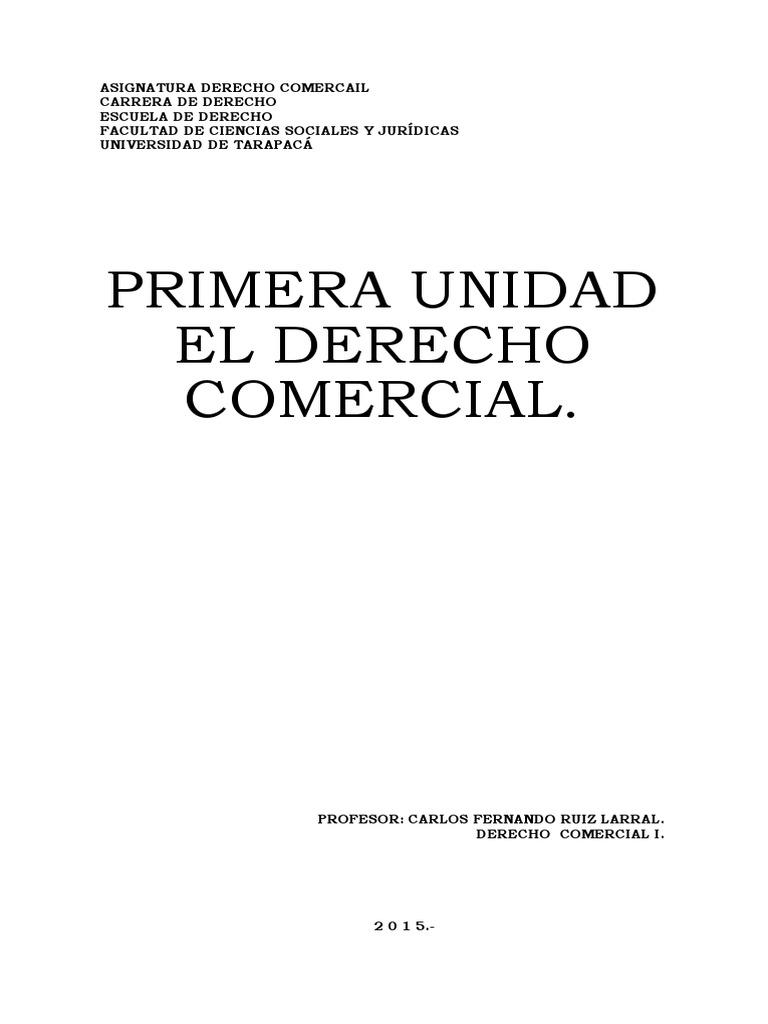 Apunte Derecho Comercial i Primera Unidad