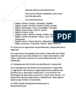Aspectos Politicos Administrativos de Venezuela