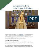 7 Claves Para Comprender El Mensaje de La Virgen de Fátima