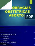 Hemorragias Del Primer Trimestre- Abortos