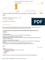 Latest JavaScript Interview Questions and Answers PDF - CodeProject