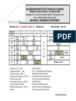 Time Table 1st SEM 2013- 14