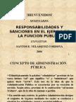 Responsabilidad y Sanciones en La Funcion Publica