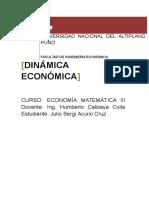 Dinamica Economca y Calculo Integral Final R