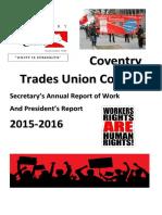 annual report secretary coventry tuc 2015-16  1   2   1