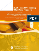 Food Standard for Dairy Processing