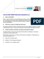 Top 35 Interview Questions on Sap Abap