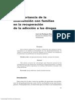La importancia de la intervención con familias en la recuperación de la adicción a las drogas
