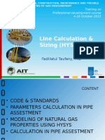 Line Calculation & Sizing (HYSYS) - PPT Professional Development Course-Bangladesh - 2015.10.05