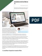 Cómo Editar Los Metadatos de Los Libros en IBooks Para OS X